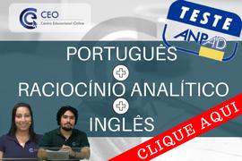 Preparatório Teste ANPAD Raciocínio Analítico, Português e Inglês
