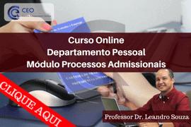 Curso Departamento Pessoal Processos Admissionais (ao Vivo)